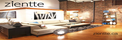 Zientte Contemporary Furniture web ad